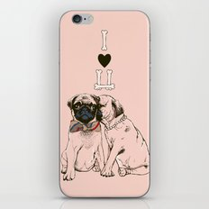 The Love of Pug iPhone & iPod Skin