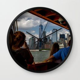 Freedom Tower & Tourists Wall Clock