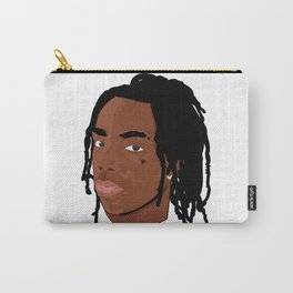 Hood Rich Rapper Illustration Carry-All Pouch