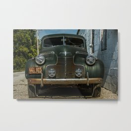 1940 Special Deluxe Grill Route 66 Vintage Classic Car Odell Illinois Metal Print