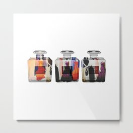 Glass Fashion Metal Print