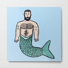 Beard Boy Merman: Troy Metal Print