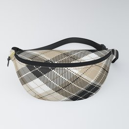 Tan and black plaid Fanny Pack
