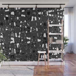 Black and white, day and night, dark and light, life contrasts, simple abstract texture design Wall Mural