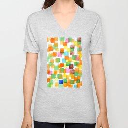 First Squares Pattern  Unisex V-Neck