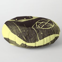 Witchcraft Cat Floor Pillow