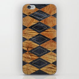 Wood cut abstraction iPhone Skin