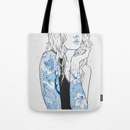 art nouveau woman Tote Bag