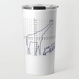 Look At My Graph - Giraffe Pun Travel Mug