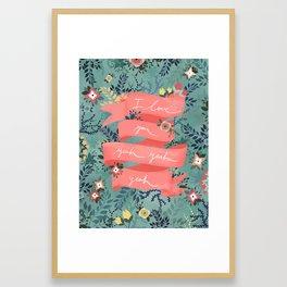 Flowers II Framed Art Print