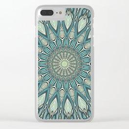 Eye of the Needle Mandala Art Clear iPhone Case