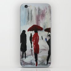 The Girl With The Red Umbrella Impressionist Fine Art iPhone & iPod Skin