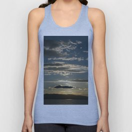 Vermont evening sky over lake champlain II Unisex Tank Top