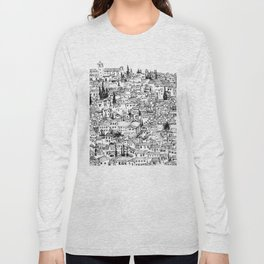 Albaicin View from the Alhambra, Granada, Spain Long Sleeve T-shirt