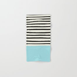 Sky Blue x Stripes Hand & Bath Towel