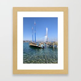 Lake Geneva  Framed Art Print