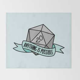 Anything is Possible D20 Throw Blanket