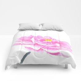 pink peony Comforters