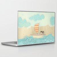 pirate ship Laptop & iPad Skins featuring pirate ship...  by studiomarshallarts
