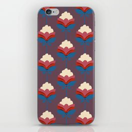Retro fall florals- n. 2 iPhone Skin
