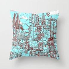 San Francisco! (Turquoise) Throw Pillow