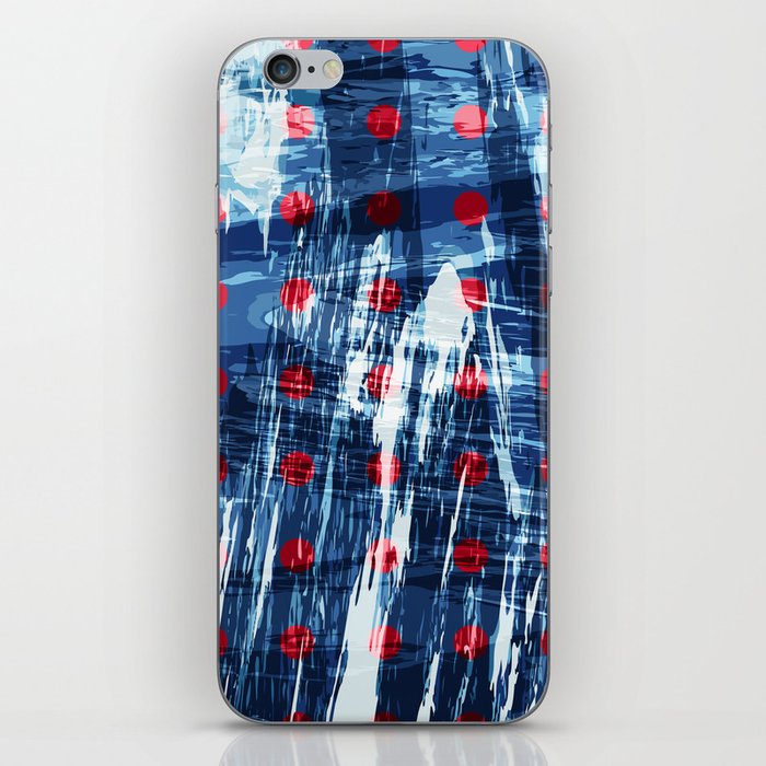 dots on blue ice iPhone Skin