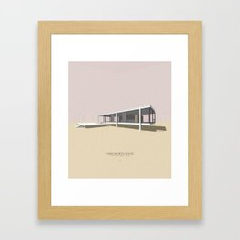 Farnsworth House Mies van der Rohe Framed Art Print