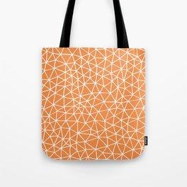 Connectivity - White on Orange Tote Bag