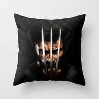 x men Throw Pillows featuring x men by Fila Venom Art
