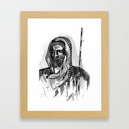 The shepherd Framed Art Print