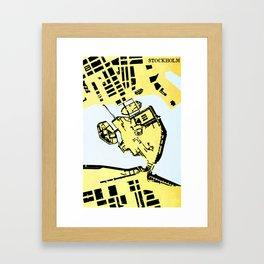 STOCKHOLM (MAPSTAT SERIES) Framed Art Print