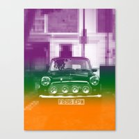 mini Canvas Prints featuring Mini by Matt Wade