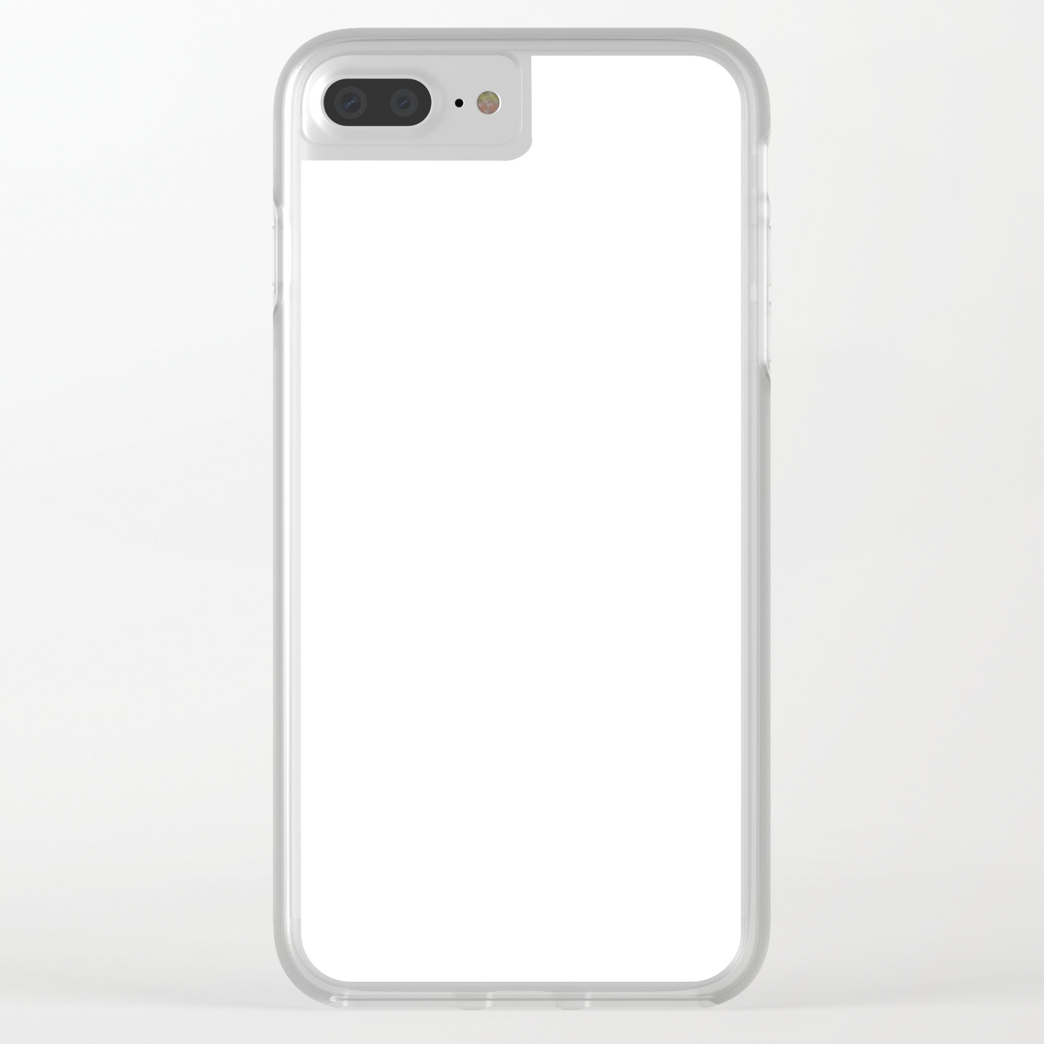 cheaper f23b0 746f4 Plain White Simple Solid Color All Over Print Clear iPhone Case