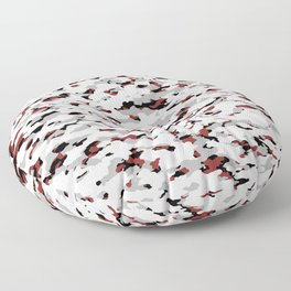 Camouflage: Red IV Floor Pillow