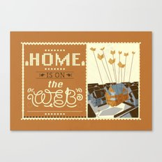 Home on the Web Canvas Print