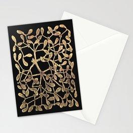 Mistletoe Black Stationery Cards