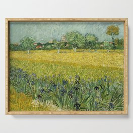 Field with Flowers near Arles by Vincent van Gogh Serving Tray