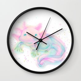 My sweet axolotl Wall Clock