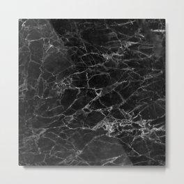 Sharp Marble Metal Print