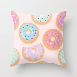 Nuts for Donuts Throw Pillow
