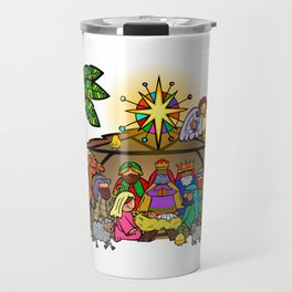 Christmas Nativity Cartoon Doodle Travel Mug