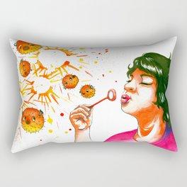 fugu bubbles Rectangular Pillow