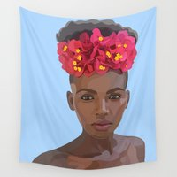 goddess Wall Tapestries featuring Goddess by Grace Teaney Art