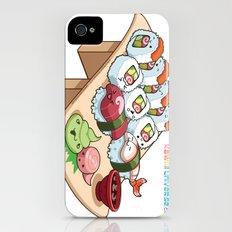 Kawaii California Roll and Sushi Shrimp and Tuna Nigiri iPhone (4, 4s) Slim Case