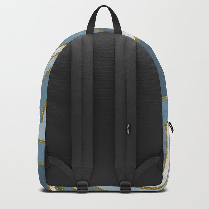 Travel to nowhere in blue (abstract geometric marble) Backpack
