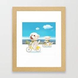Biking Framed Art Print