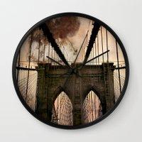 bridge Wall Clocks featuring Bridge by Daniela Battaglioli