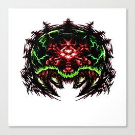 Super Metroid: Angry Baby Graphic Canvas Print