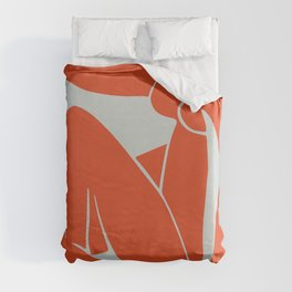 Blue Nude in Orange - Henri Matisse Duvet Cover