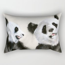 Laughing Pandas  Rectangular Pillow